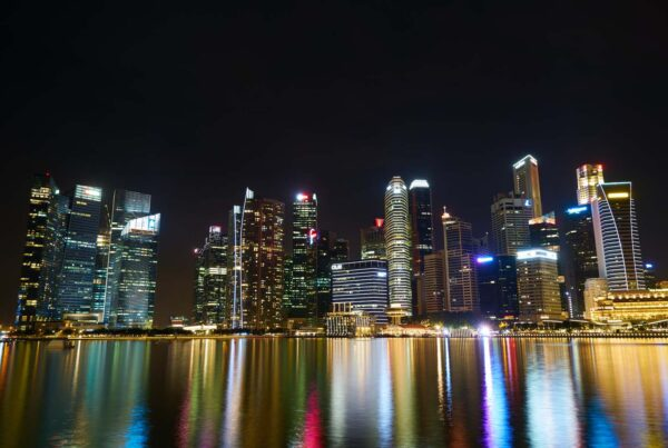 landscape of Singapore financial district