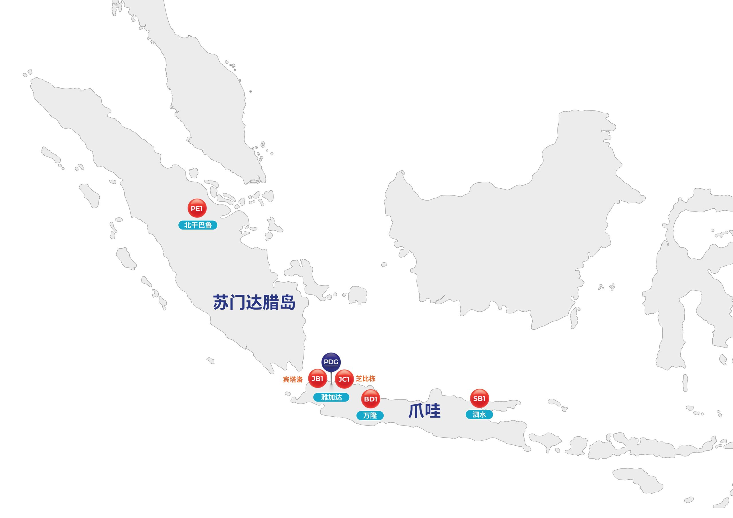 Map of Indonesia and PDG Presence