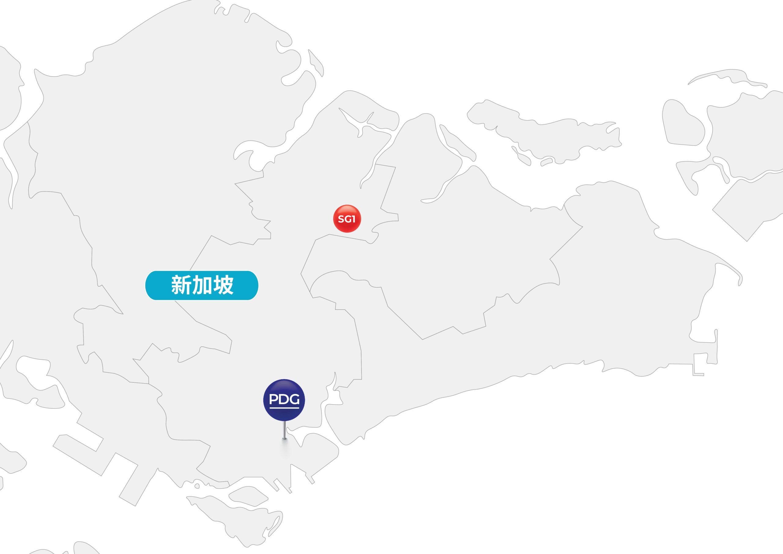 Map of Singapore and PDG Presence